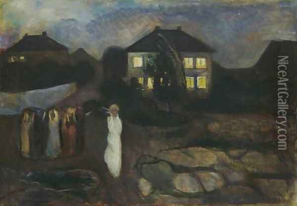 The Storm Oil Painting - Edvard Munch
