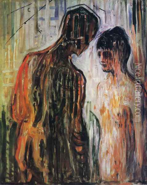 Cupid and Psyche Oil Painting - Edvard Munch