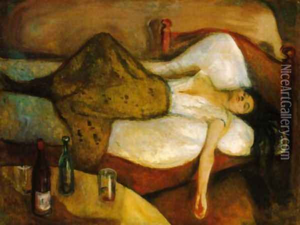 The Day After Oil Painting - Edvard Munch