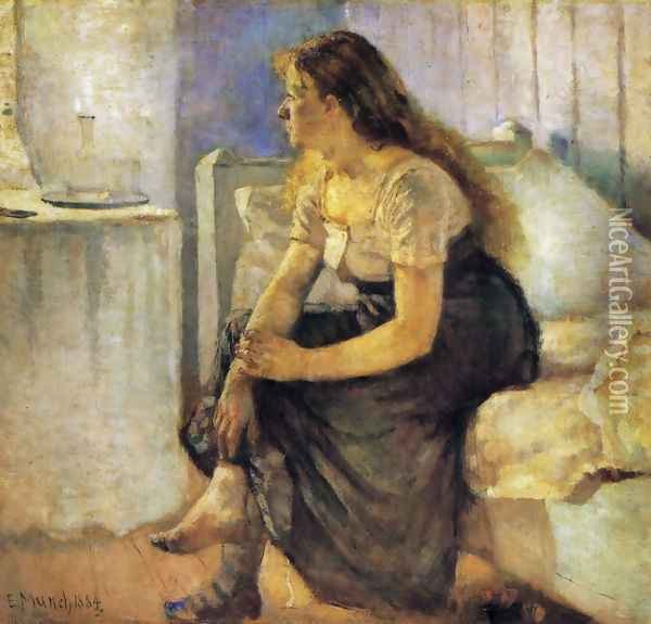 The Morning 1884 Oil Painting - Edvard Munch