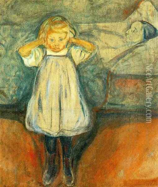 The Dead Mother Oil Painting - Edvard Munch