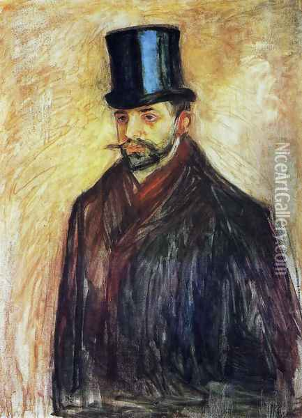Portrait de Julius Meier-Graefe 1895 Oil Painting - Edvard Munch