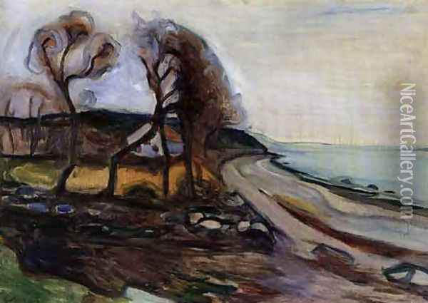 By The Shore Oil Painting - Edvard Munch