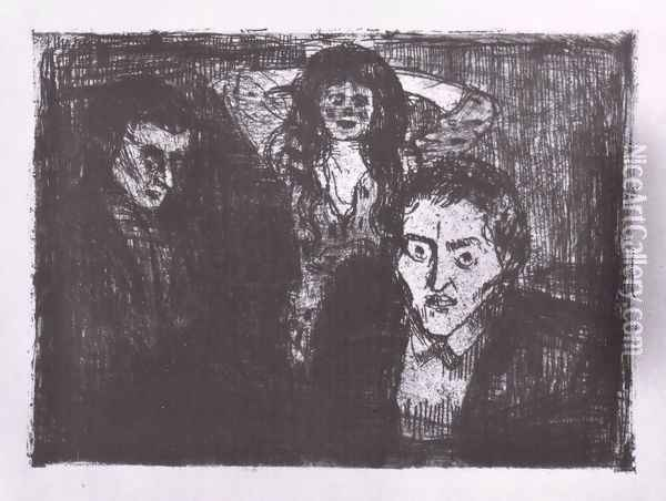 passion (jalousie) 1914 Oil Painting - Edvard Munch