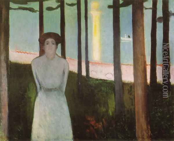 The Voice Oil Painting - Edvard Munch