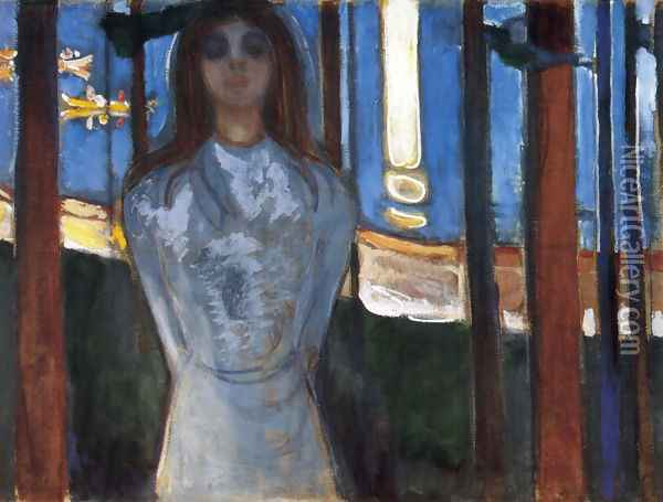 The voice 1893 Oil Painting - Edvard Munch
