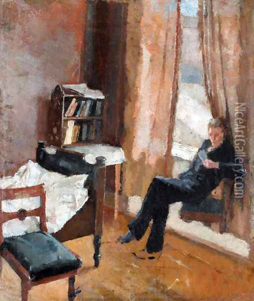 Andreas Reading (Andreas leser) Oil Painting - Edvard Munch