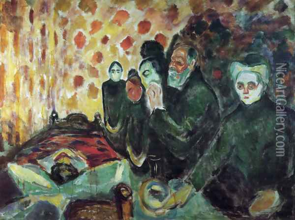 By the Deathbed Oil Painting - Edvard Munch