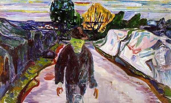The Murderer Oil Painting - Edvard Munch