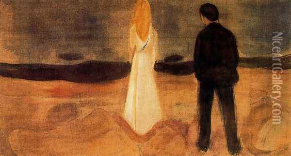 The solitary ones Oil Painting - Edvard Munch