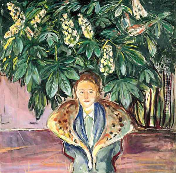 Under the Chestnut Tree Oil Painting - Edvard Munch