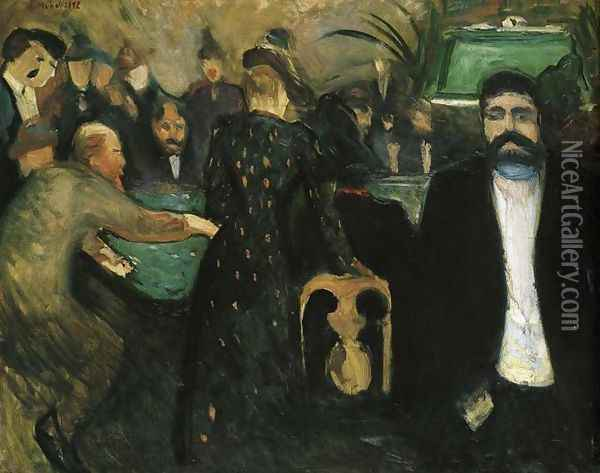 The Roulette I Oil Painting - Edvard Munch