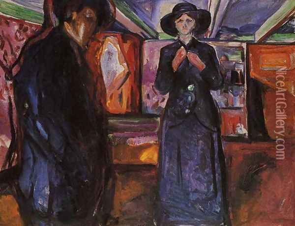 Man and Woman II Oil Painting - Edvard Munch
