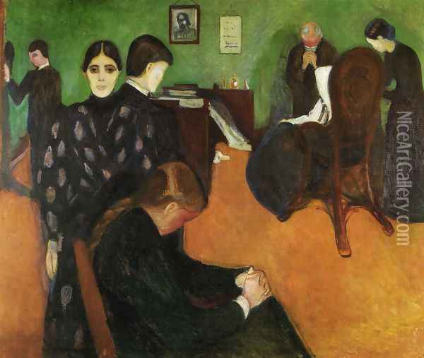 The Mortuary room 1896 Oil Painting - Edvard Munch