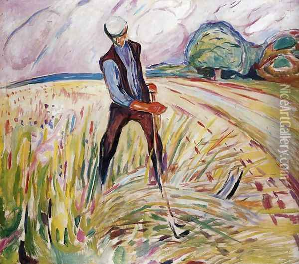 The Haymaker Oil Painting - Edvard Munch