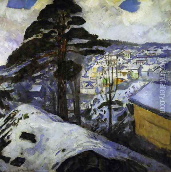 Winter at Kragerö 1912 Oil Painting - Edvard Munch