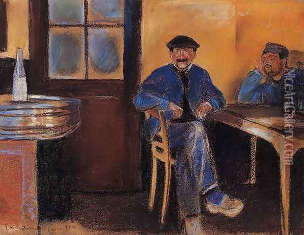 Tavern in St. Cloud Oil Painting - Edvard Munch