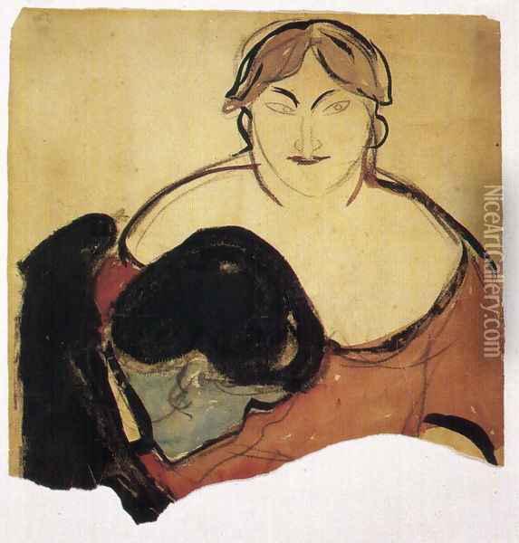 Young man and prostitute 1893 Oil Painting - Edvard Munch