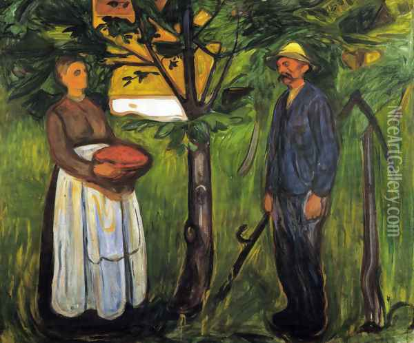 Fertility II Oil Painting - Edvard Munch