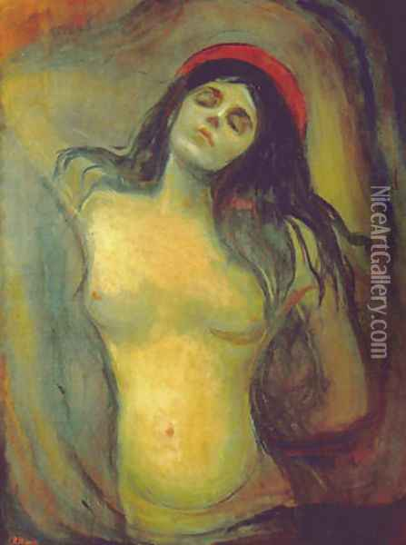 Madonna 2 Oil Painting - Edvard Munch