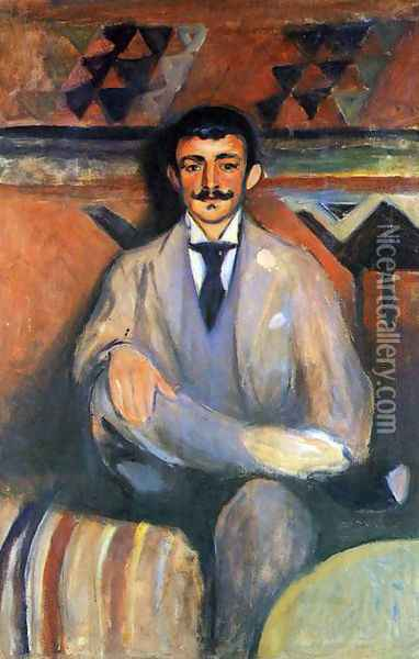 The Painter Jacob Bratland Oil Painting - Edvard Munch