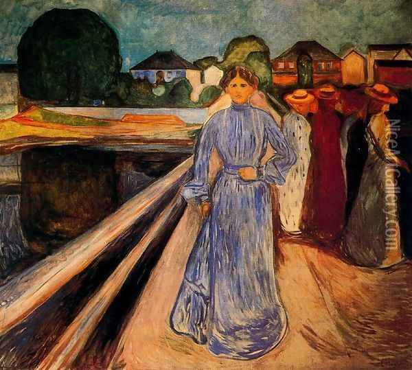 Women on the Bridge Oil Painting - Edvard Munch