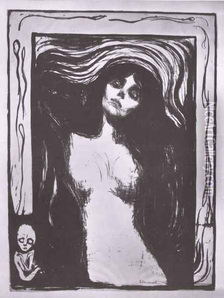 madone 1895 1902 Oil Painting - Edvard Munch