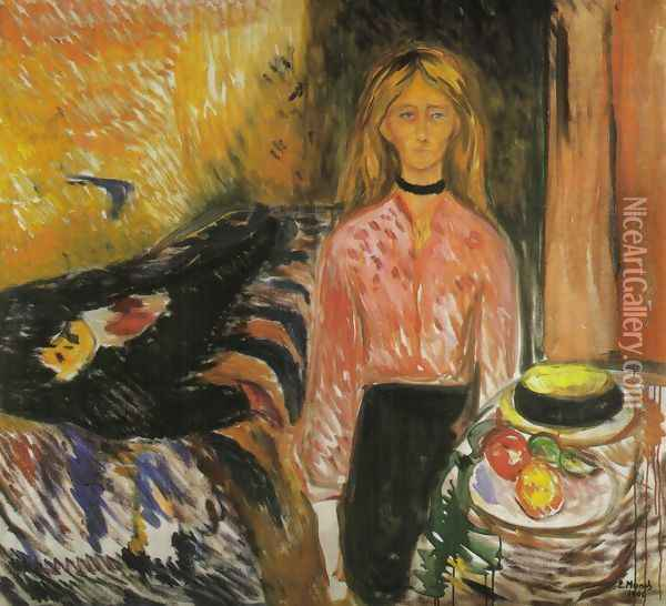The Murderess Oil Painting - Edvard Munch