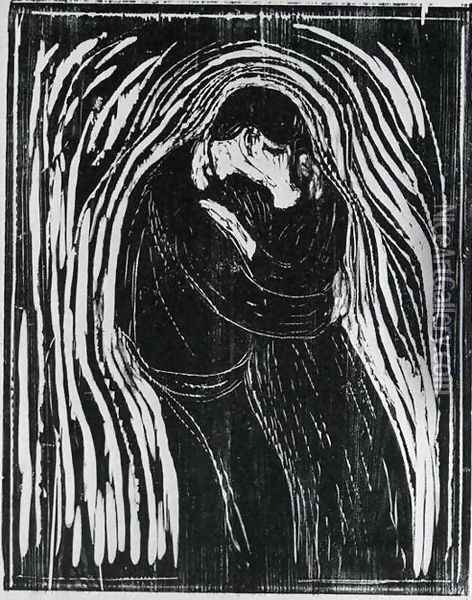 The Kiss 2 Oil Painting - Edvard Munch