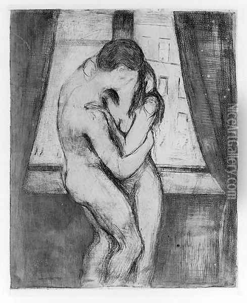 Der Kuss Oil Painting - Edvard Munch
