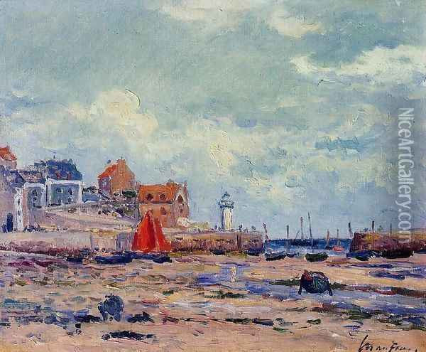 At Low Tide Oil Painting - Maxime Maufra