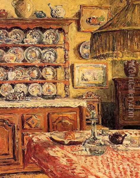 The Dining Room after Lunch Oil Painting - Maxime Maufra