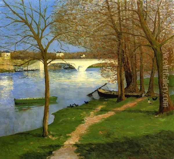 Bridge over the Loire Oil Painting - Maxime Maufra
