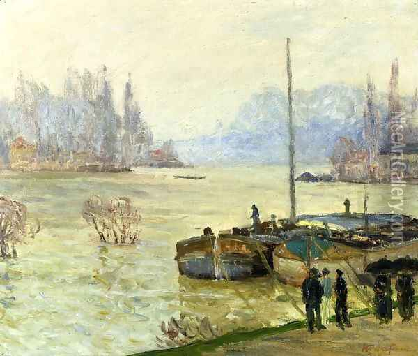 Flood (Joinville-le-Pont) Oil Painting - Maxime Maufra