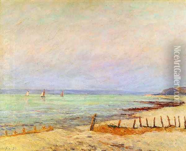 Dusk, the Mouth of the Seine Oil Painting - Maxime Maufra