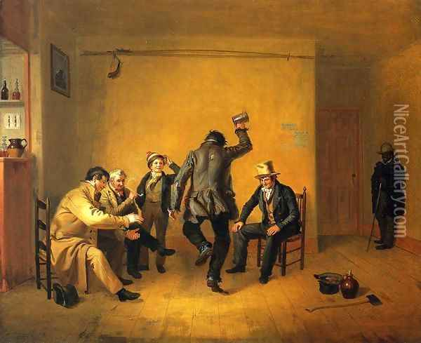 The Breakdown Oil Painting - William Sidney Mount