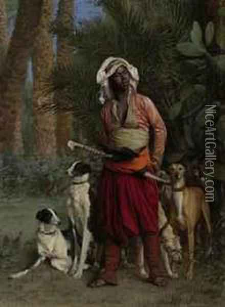 Master Of The Hounds Oil Painting - Jean-Leon Gerome