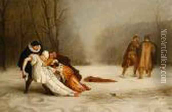 Duel After The Masquerade Oil Painting - Jean-Leon Gerome