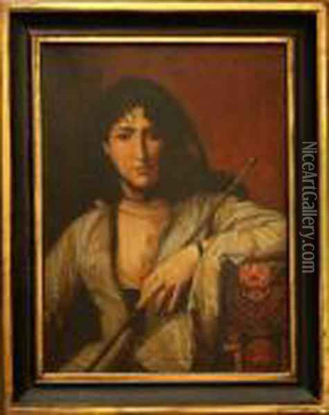 Femme Circassienne Voilee Oil Painting - Jean-Leon Gerome