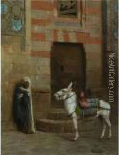Ane Egyptien Oil Painting - Jean-Leon Gerome