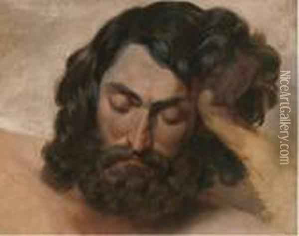 Study Of A Bearded Man Oil Painting - Jean-Leon Gerome