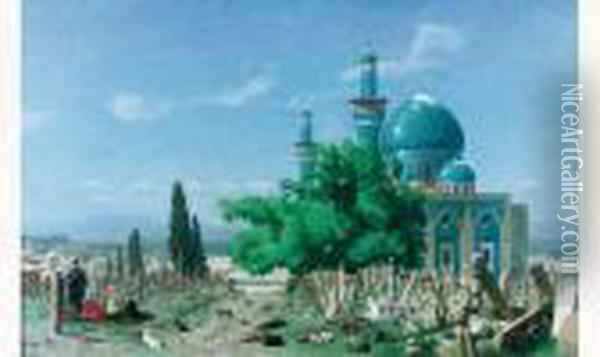 A Mosquee Verte, Circa 1876 Oil Painting - Jean-Leon Gerome