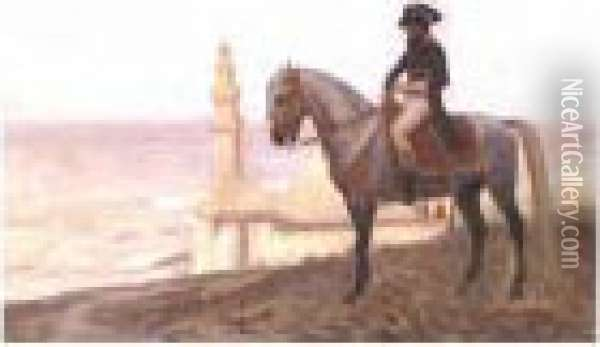 Napoleon At Cairo: A Study Oil Painting - Jean-Leon Gerome