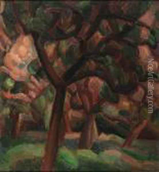 An Orchard Oil Painting - Leo Gestel