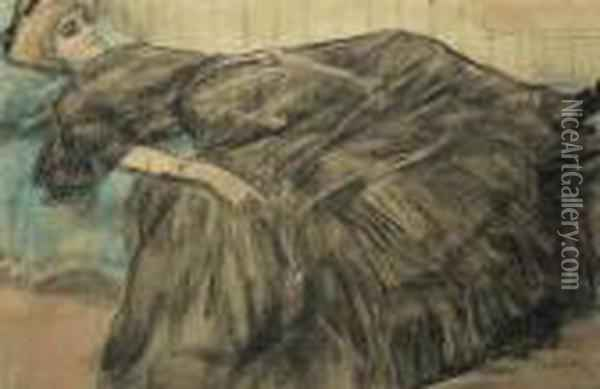 Idle Moments Oil Painting - Leo Gestel