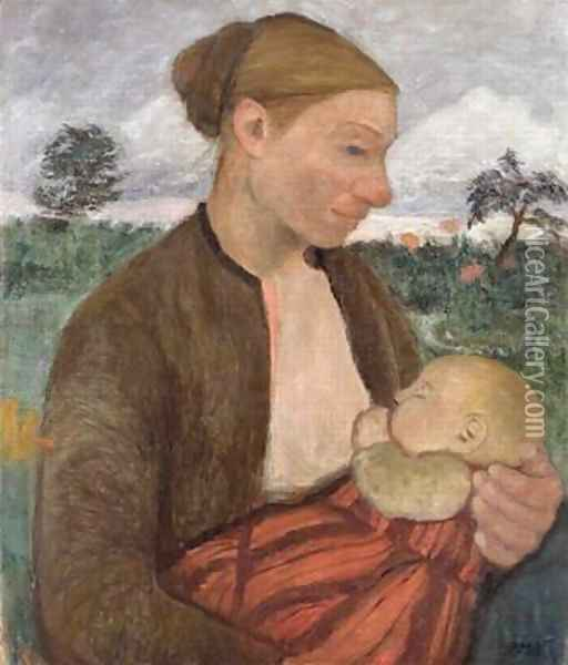 Mother and Child 1903 Oil Painting - Paula Modersohn-Becker