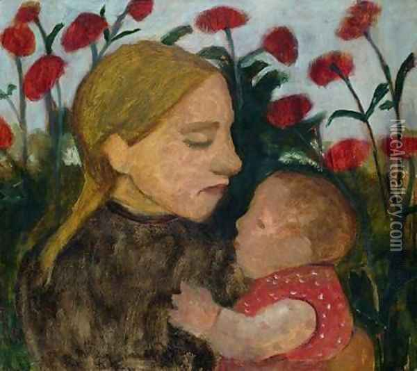 Mother and Child 1904 Oil Painting - Paula Modersohn-Becker