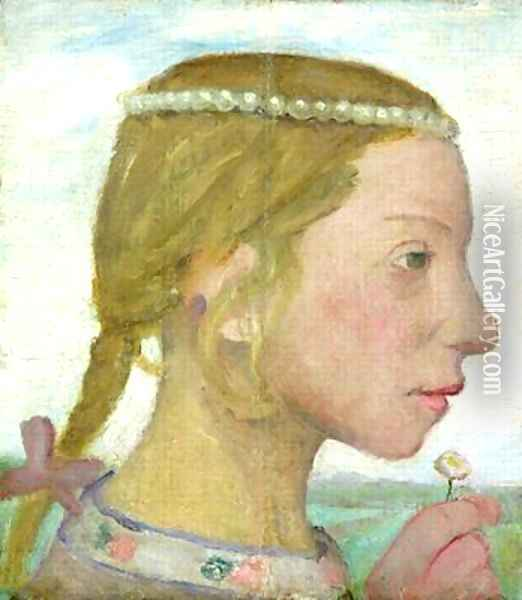 A Young Girl Oil Painting - Paula Modersohn-Becker