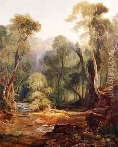 Coombe Glen near Bristol 1831 Oil Painting - William James Muller
