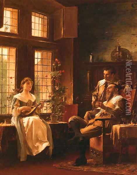 A Tender Chord Oil Painting - Mihaly Munkacsy